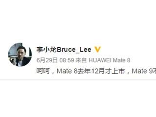 华为Mate9确认9月不发 IFA新品是华为Mate S2